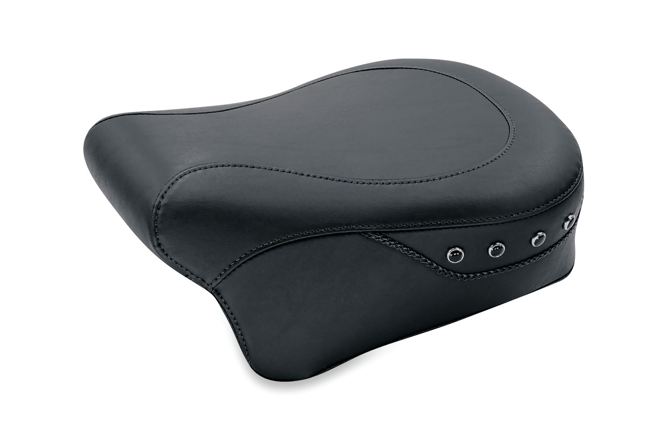 Passenger Seat for H-D Lowdown™ Touring, Standard Touring, Black Pearl-Centered Studded, Black, Width: 11""