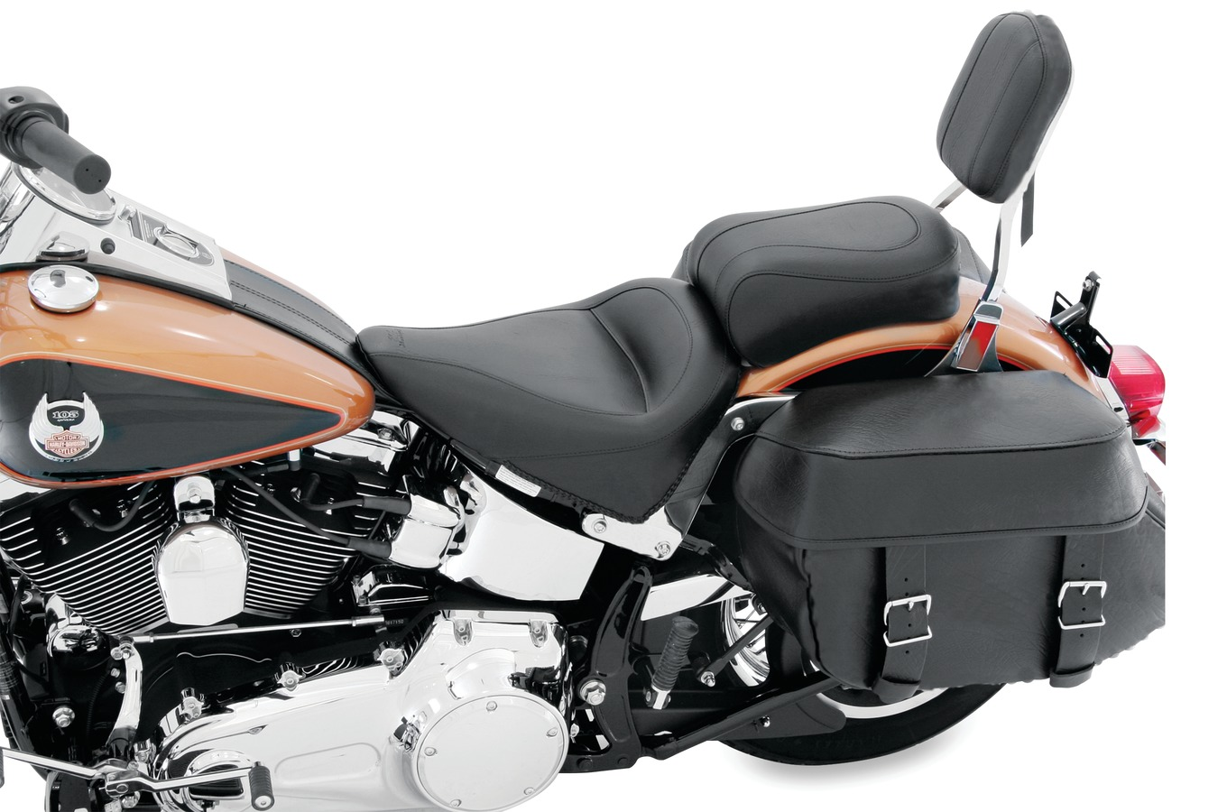 Standard Touring One-Piece Seat for Harley-Davidson Softail Standard Rear Tire 2000-