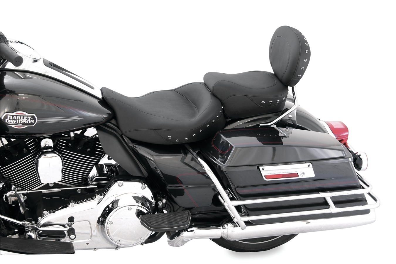 Super Touring Solo Seat for Harley-Davidson Electra Glide Standard, Road Glide, Road King & Street Glide 2008-