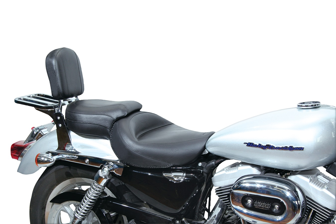 Wide Touring One-Piece Seat for Harley-Davidson Sportster 2004-