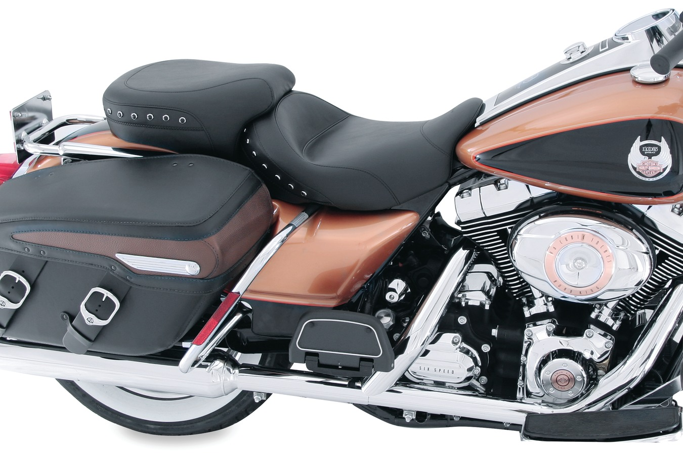Standard Touring Solo Seat for Harley-Davidson Electra Glide Standard, Road Glide, Road King & Street Glide 2008-