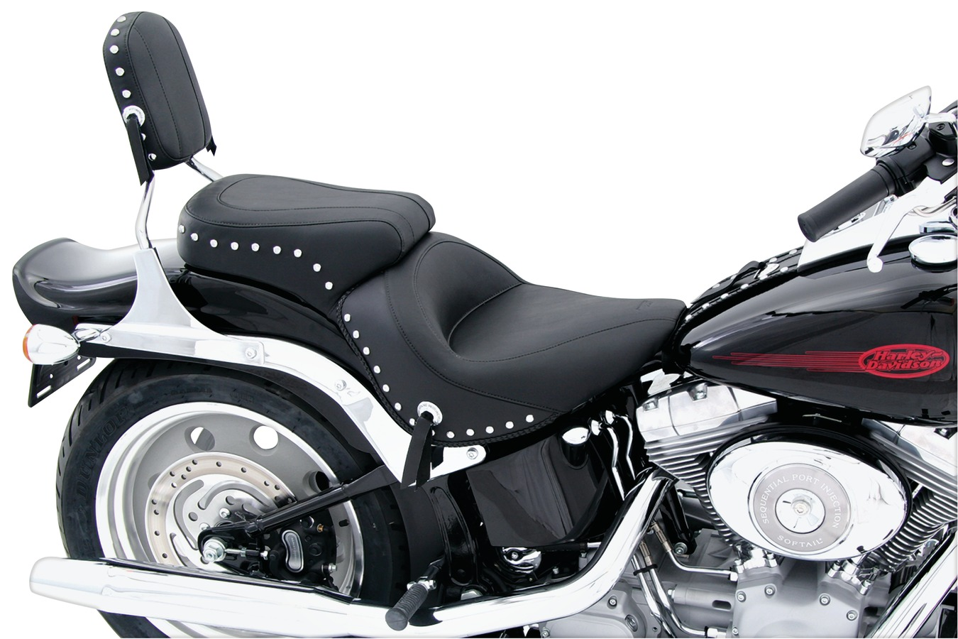 Standard Touring One-Piece Seat for Harley-Davidson Softail Wide Tire 2006-