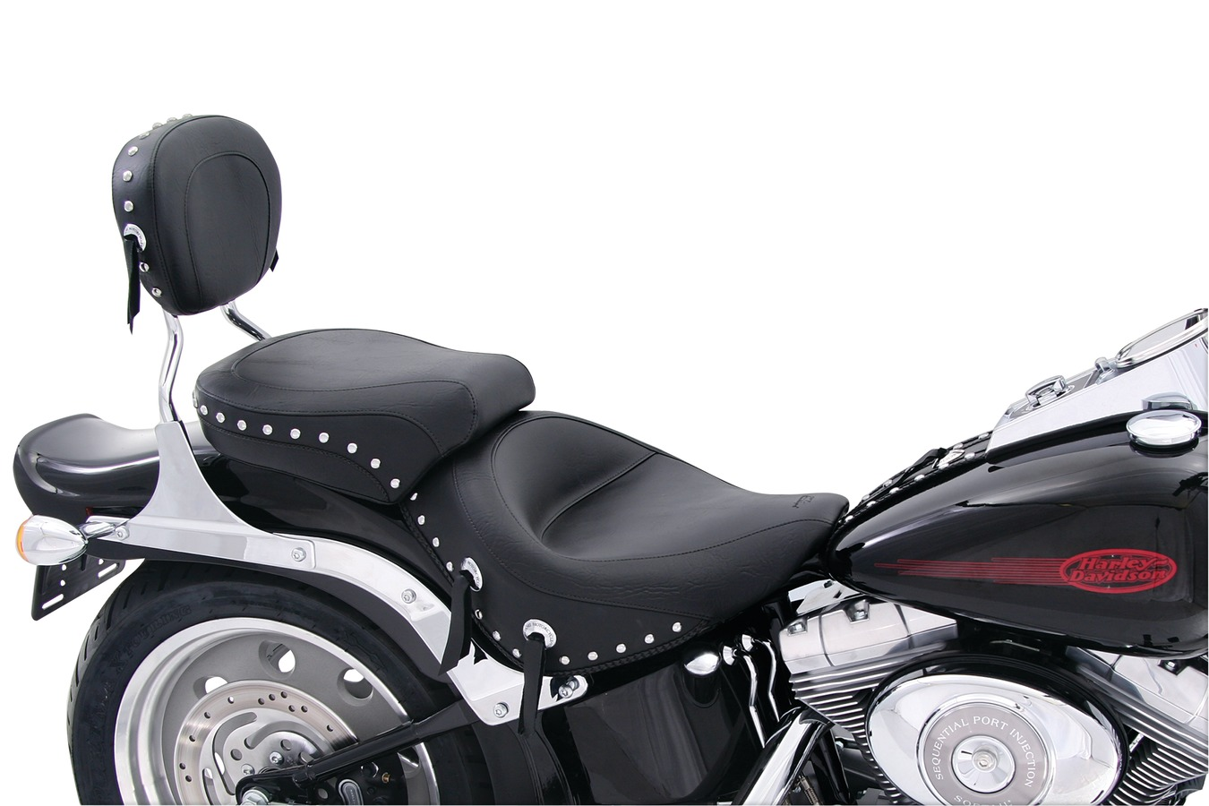 Wide Touring One-Piece Seat for Harley-Davidson Softail Wide Tire 2006-
