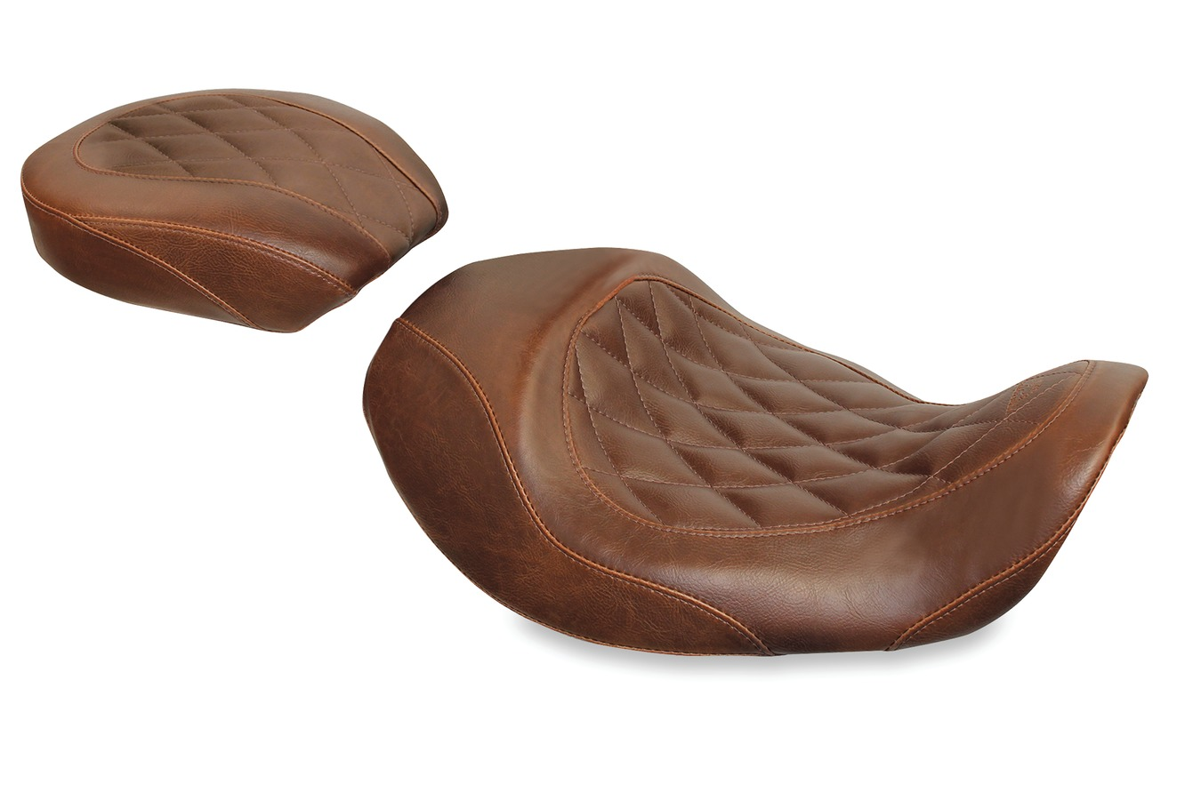 Wide Tripper™ Forward Solo Seat, Diamond Stitched, Distressed Brown