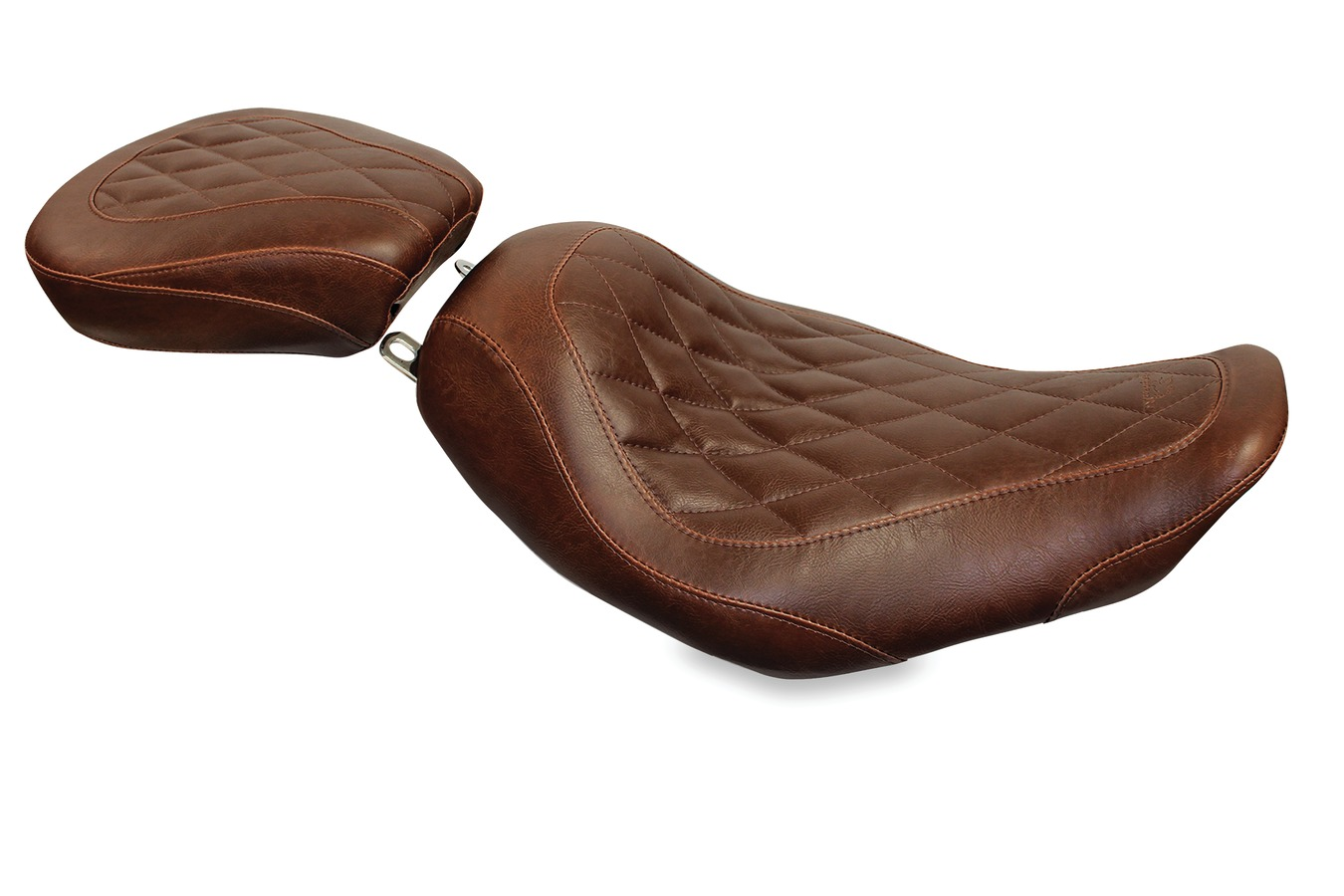 Passenger Seat for H-D Wide Tripper™, Diamond, Distressed Brown, Width: 11.5""