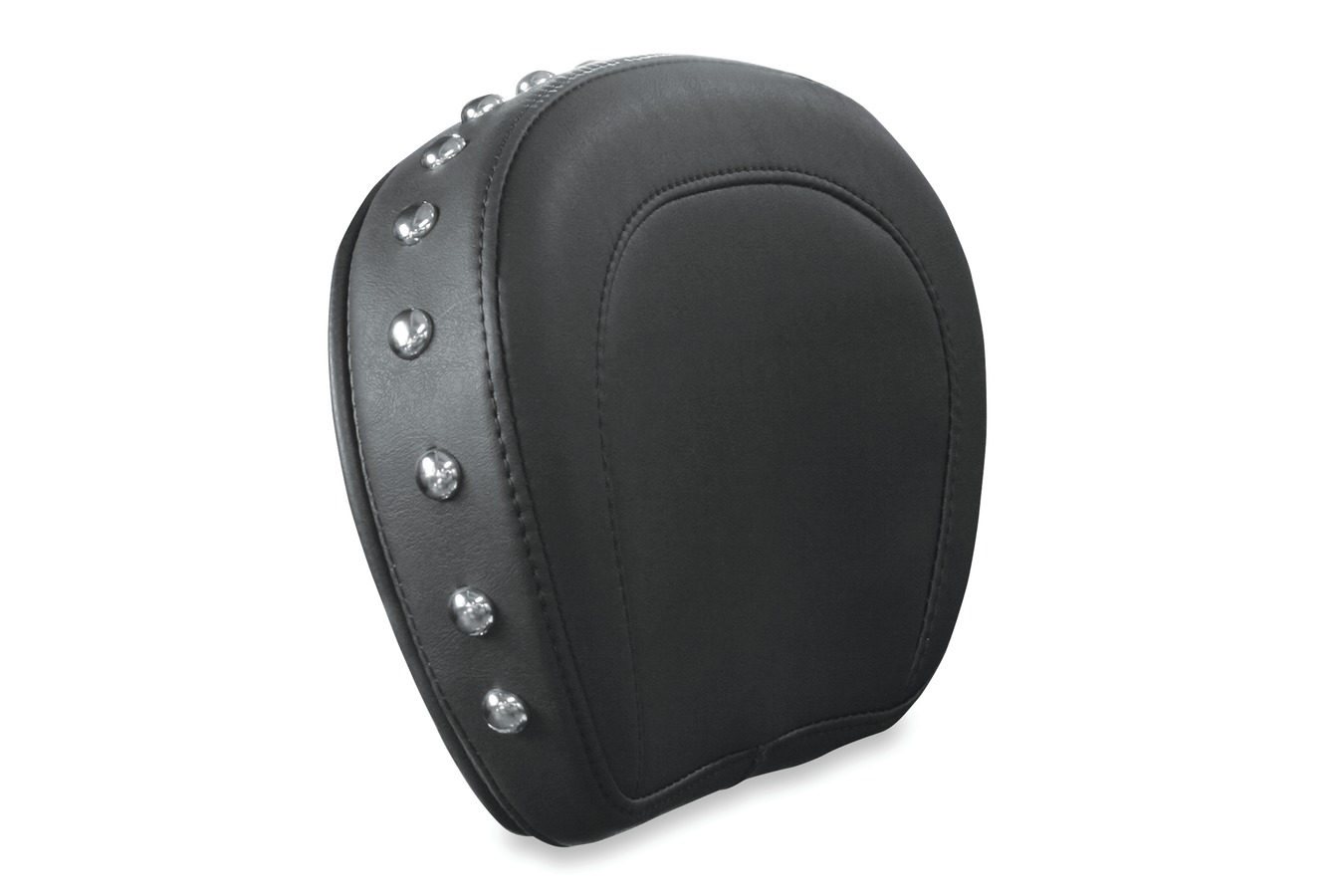 Sissy Bar Pad Cover, Chrome Studded, Black