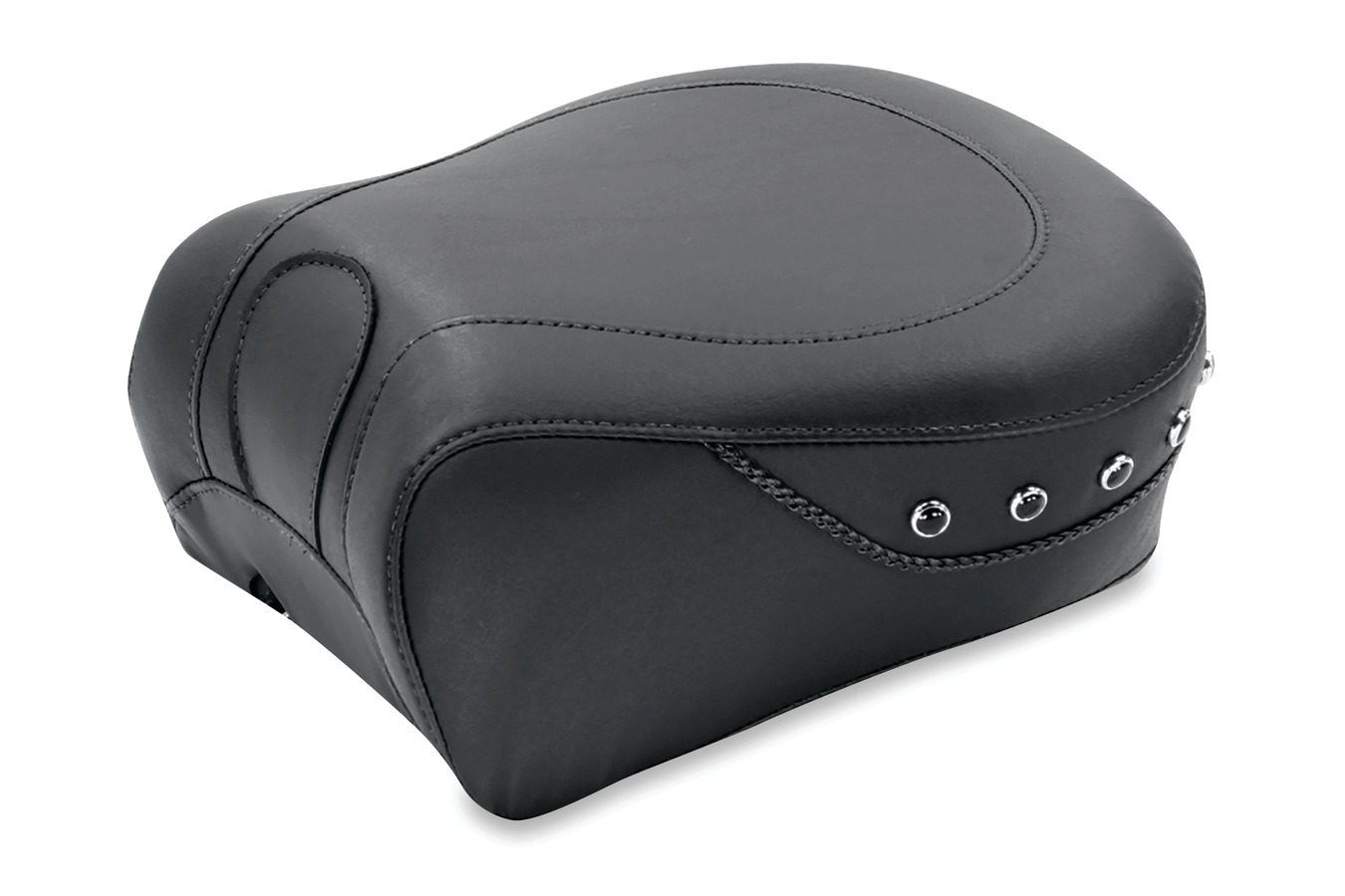 Recessed Passenger Seat for H-D Lowdown™ Touring, Standard Touring & Super Touring, Black Pearl-Centered Studded, Black, Width: 11""