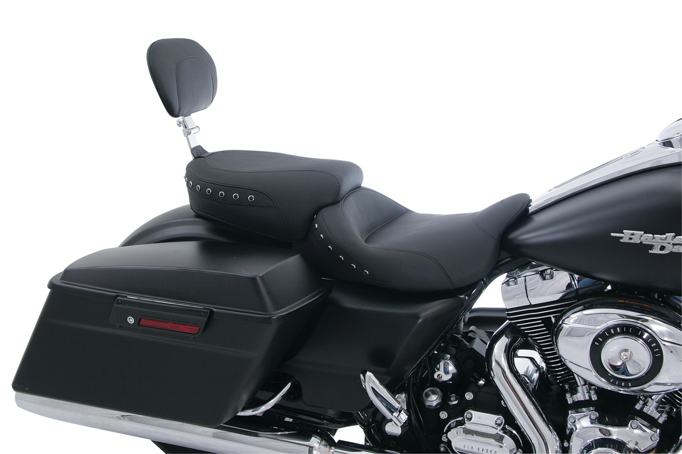 Lowdown™ Touring & Standard Touring Passenger Seat with Passenger Backrest for Harley-Davidson FL Touring 2008-