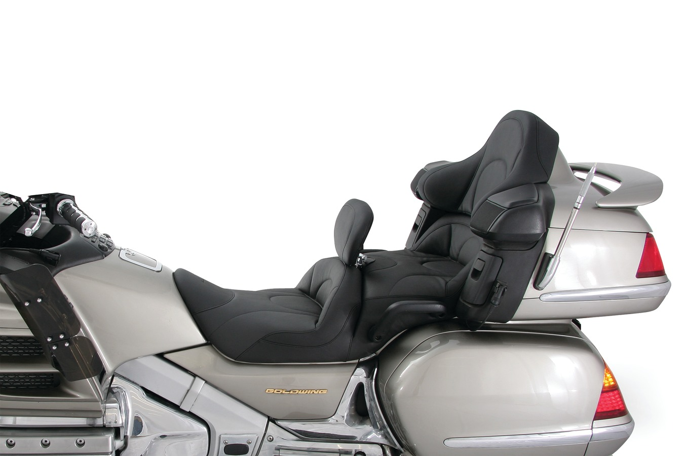 Standard Touring One-Piece Seat with Heat for Honda Gold Wing GL1800 2001-'17, Original, Black