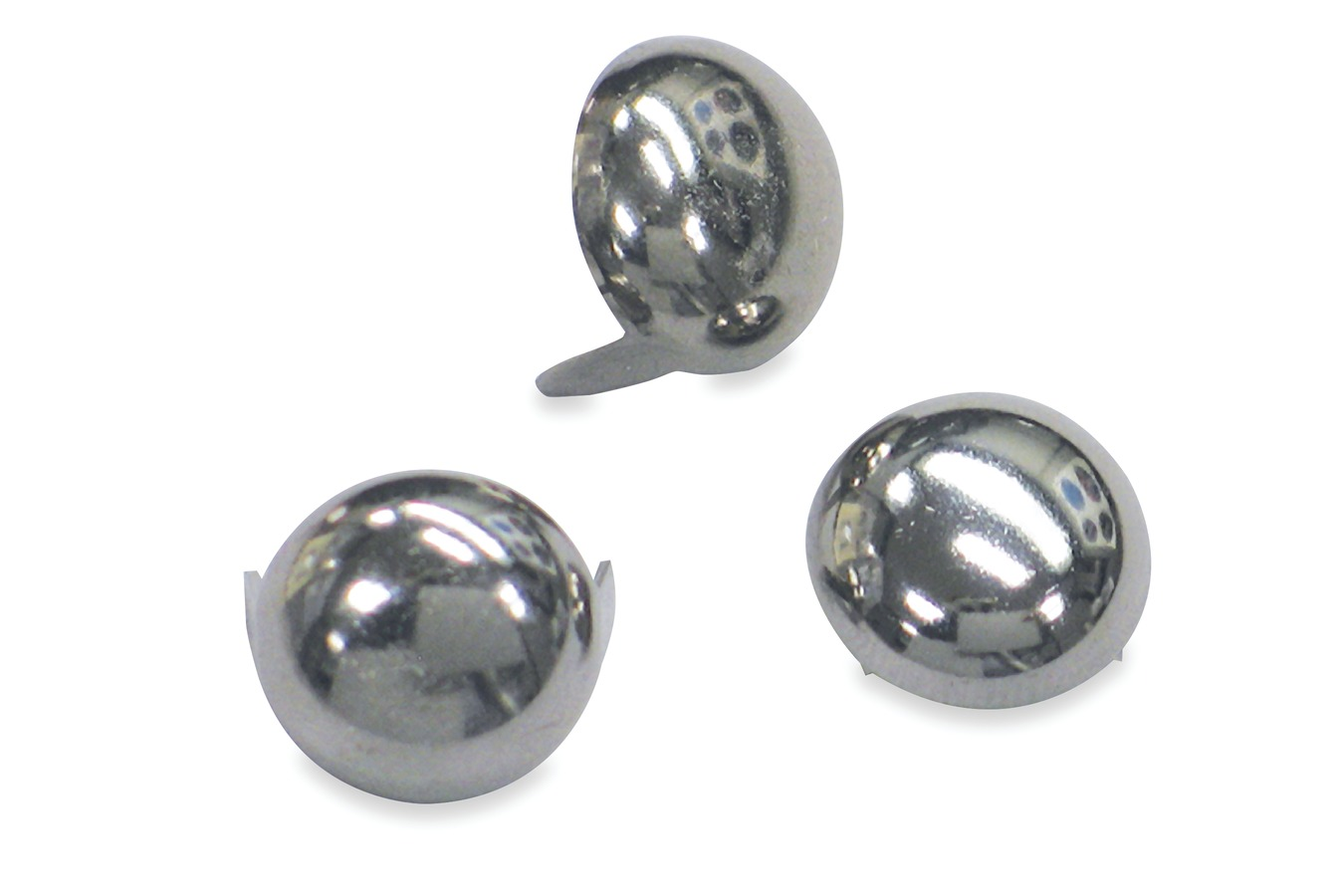 "Chrome Stud 12.5mm (.5"") Diameter, Bag of 20 Studs"