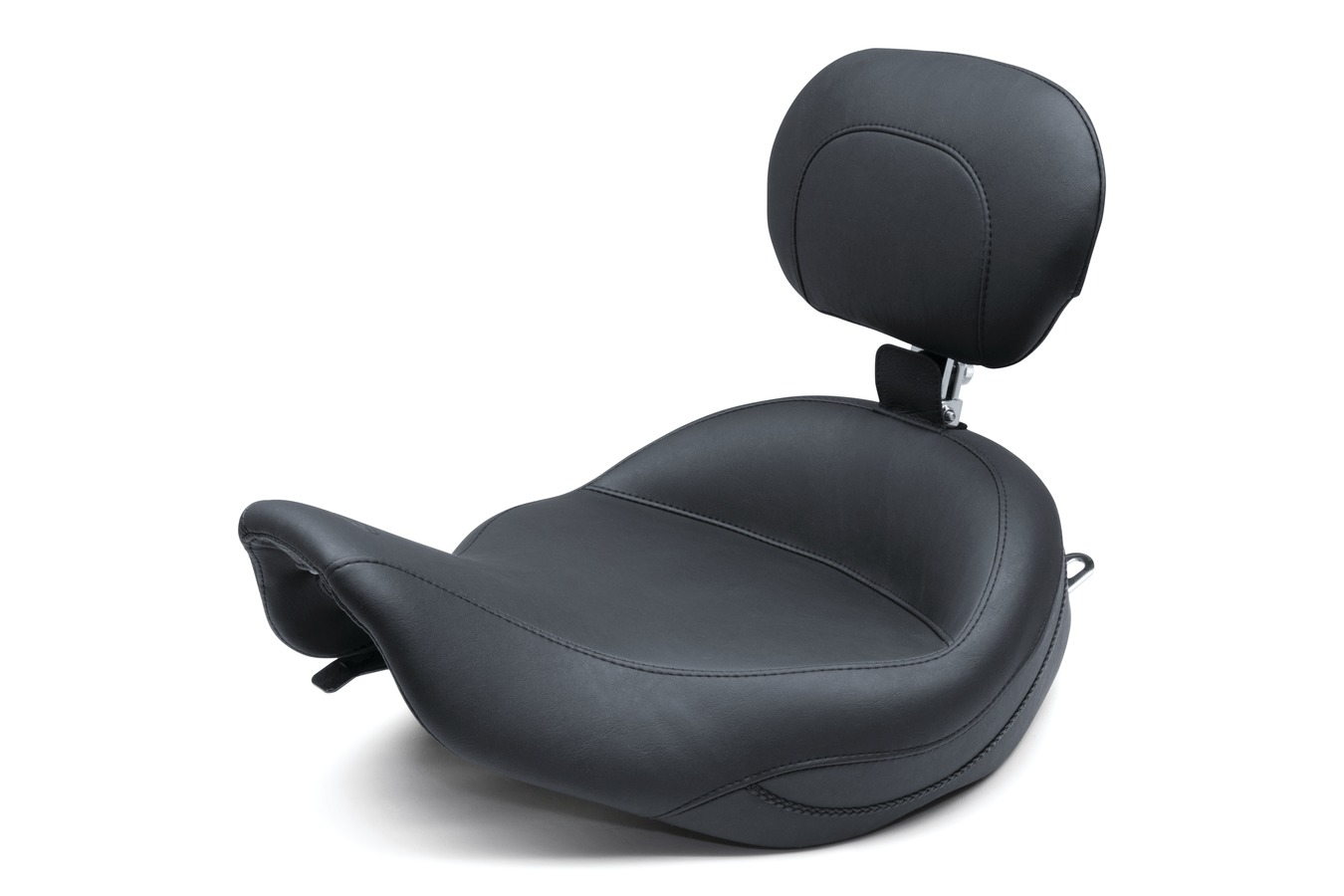 Super Touring Solo Seat with Driver Backrest, Original, Black