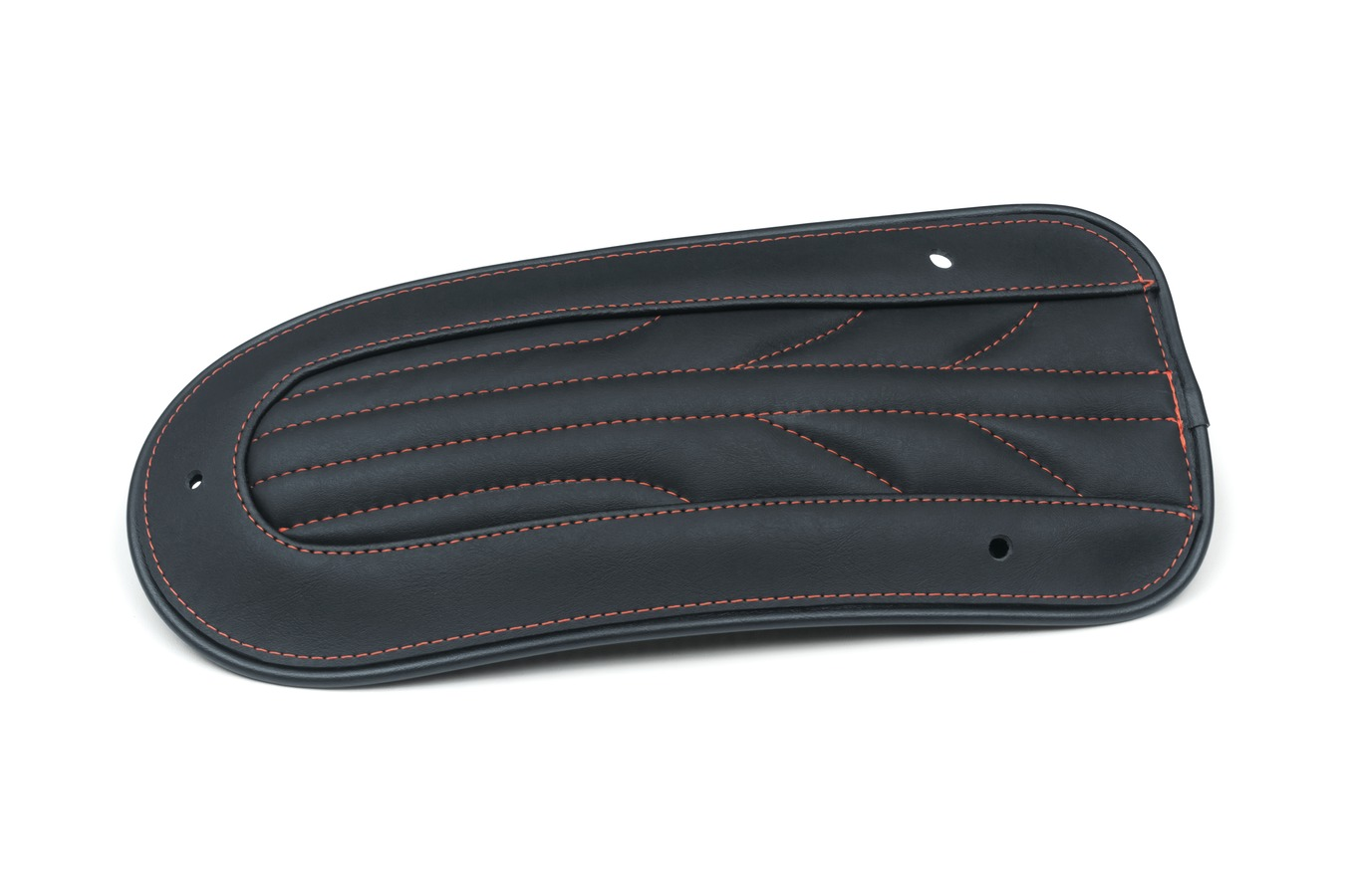Revere Journey Gravity Fender Bib with American Beauty Red Stitching, Black