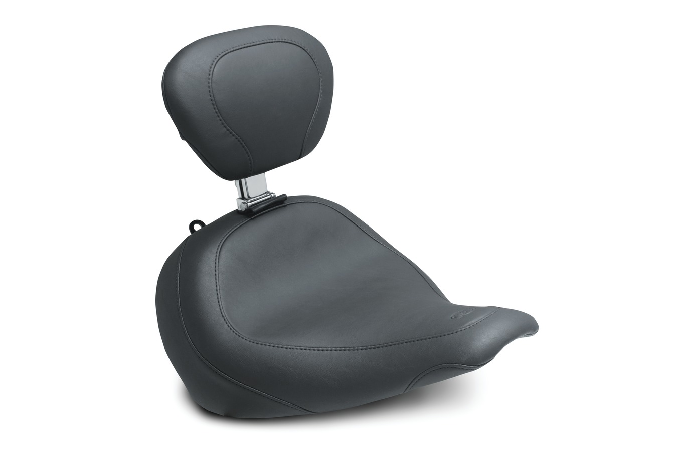 Wide Tripper™ Solo Seat with Driver Backrest, Original, Black