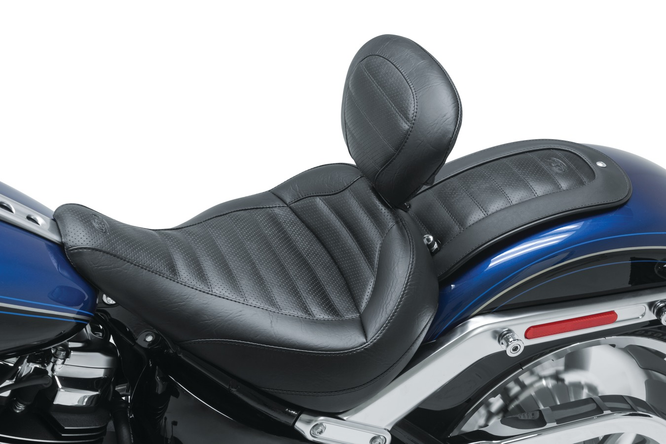 Standard Touring Solo Seat with Driver Backrest, Tuck & Roll,