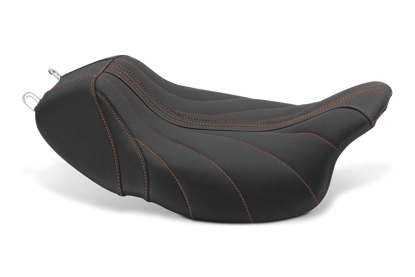 Revere Journey Gravity Solo Seat with Mandarin Orange Stitching, Black