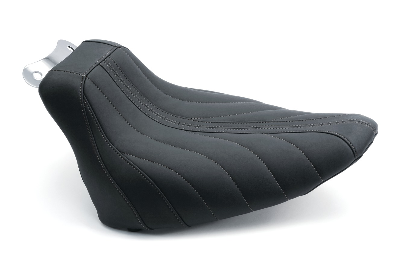 Revere Journey Gravity Solo Seat with Gunmetal Grey Stitching, Black