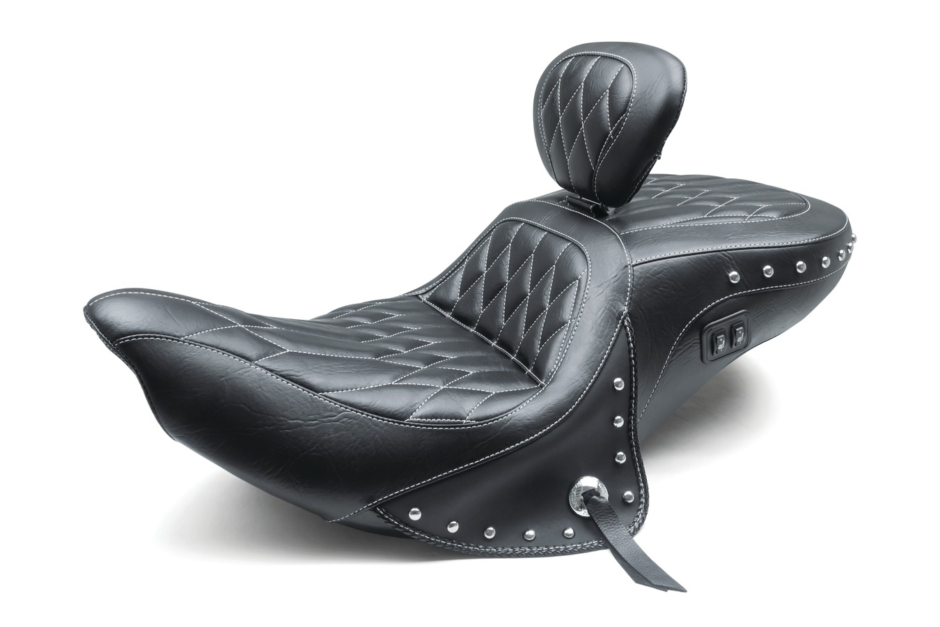 Standard Touring One-Piece Seat with Driver Backrest with Heat for Indian Chieftain, Chief Classic, Dark Horse, Roadmaster, Springfield & Vintage 2014-
