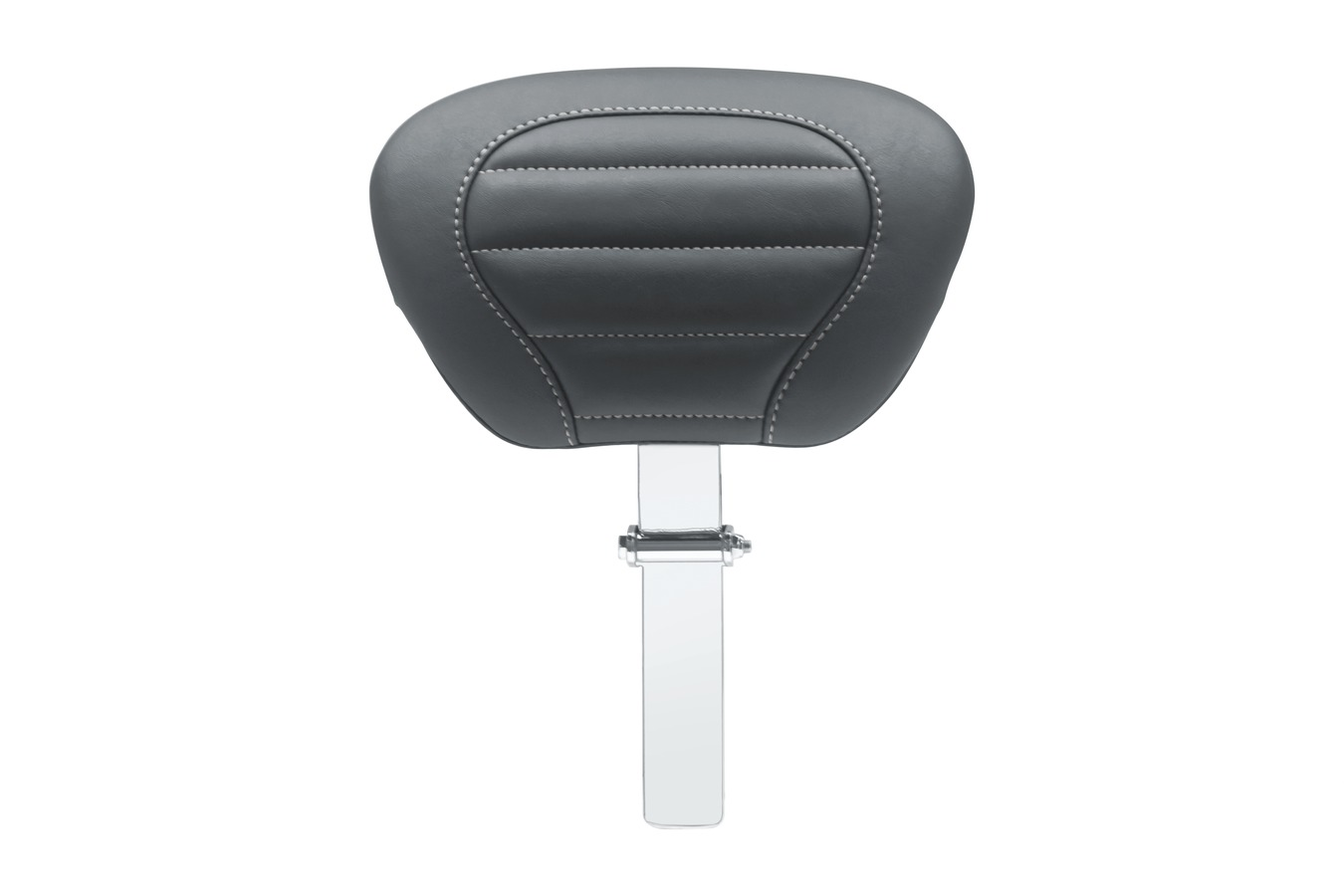 Super Touring Deluxe Driver Backrest with Gunmetal Grey Stitching, Black