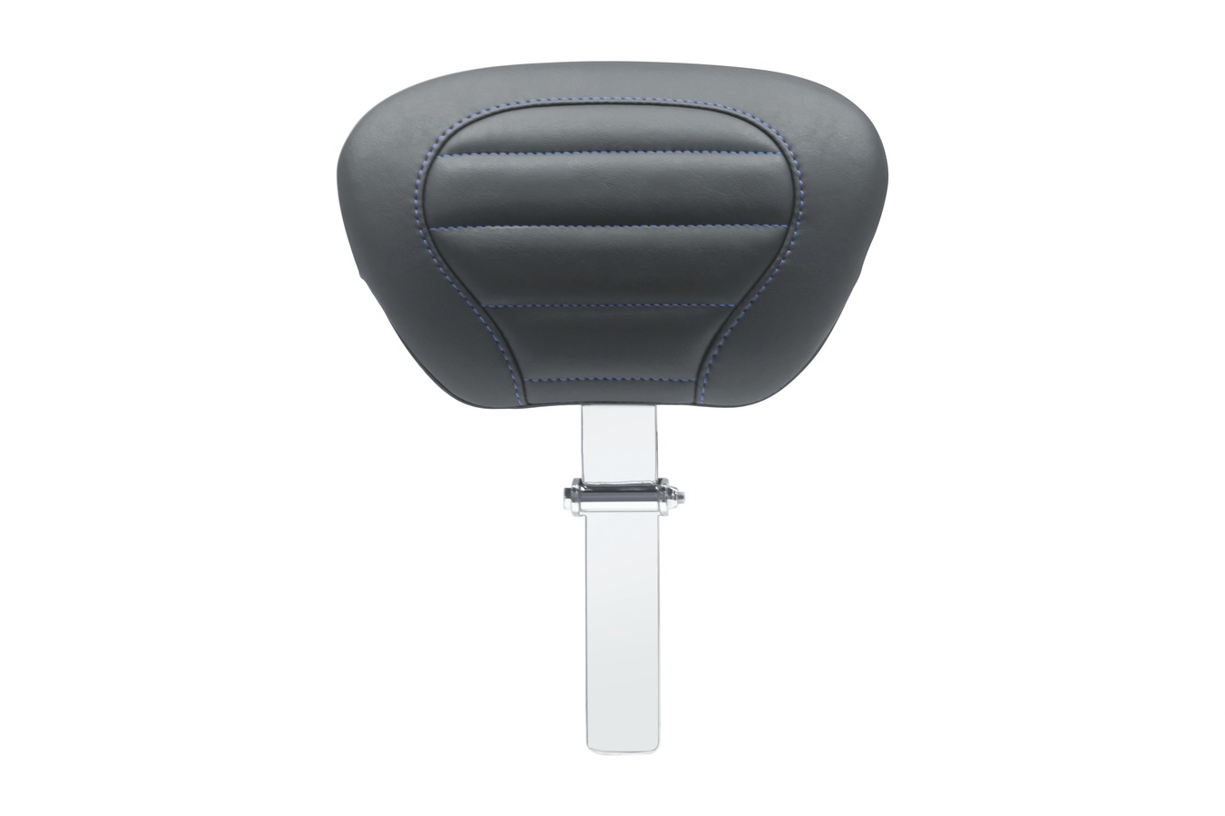Super Touring Deluxe Driver Backrest with Sky Blue Stitching, Black