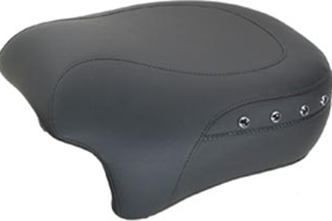 Passenger Seat for H-D Standard Touring, Black Pearl-Centered Studded, Black, Width: 13.5""