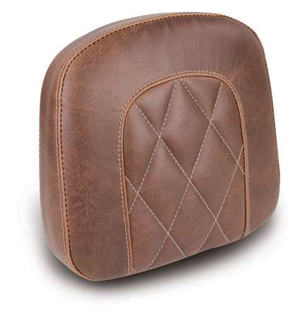 "Sissy Bar Pad, Diamond Stitched, Brown, 9"" x 9.5"""