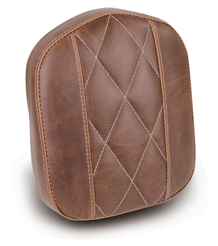 "Sissy Bar Pad, Diamond Stitched, Brown, 9"" x 7.5"""