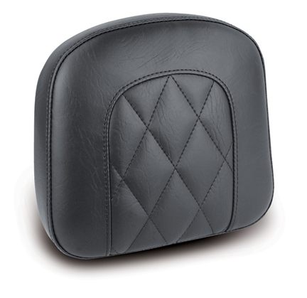 "Sissy Bar Pad, Diamond Stitched, Black, 9"" x 9.5"""