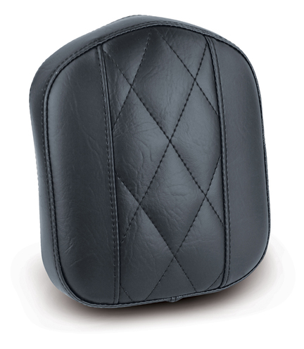"Sissy Bar Pad, Diamond Stitched, Black, 9"" x 7.5"""