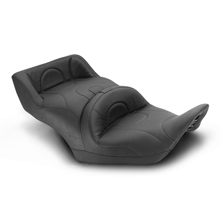 Standard Touring One-Piece Seat with Heat for Honda Gold Wing Accessories, Original, Black
