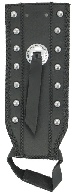 Tank Bib, Studded with Concho, Black