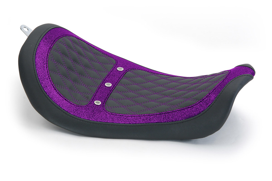 Revere Runner Vent Solo Seat with Purple Stitching, Black